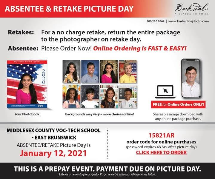 School Picture Day - Retake's - Click here to order pictures