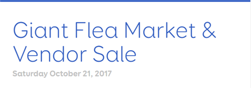 Giant Flea Market & Vendor Sale