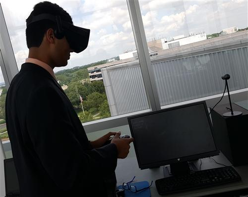 Giving Demo with VR Headset