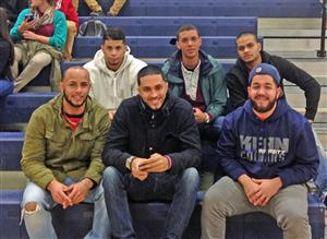 Alums take in a boys basketball game